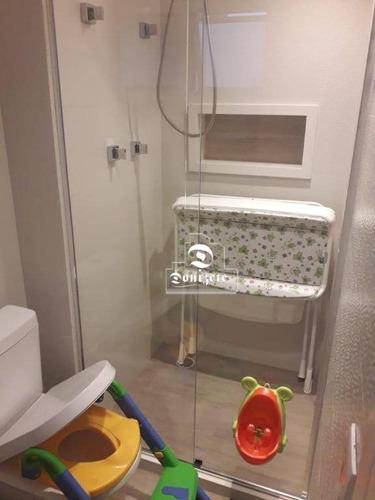 apartamento com 3 dormitórios à venda, 165 m² por r$ 1.250.000,10 - campestre - santo andré/sp - ap11574
