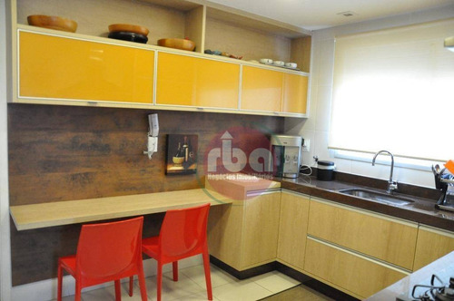apartamento com 3 dormitórios à venda, 166 m² por r$ 1.200.000 - parque campolim - sorocaba/sp - ap0732