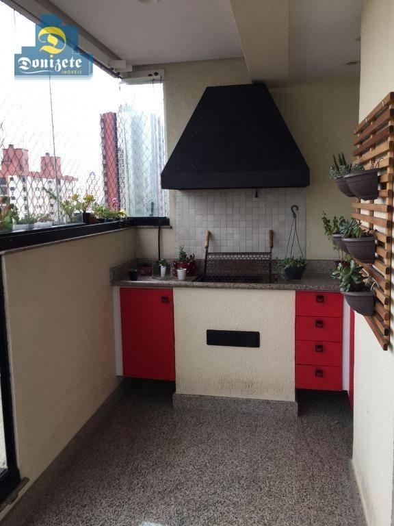 apartamento com 3 dormitórios à venda, 167 m² por r$ 1.100.000,00 - jardim bela vista - santo andré/sp - ap8653