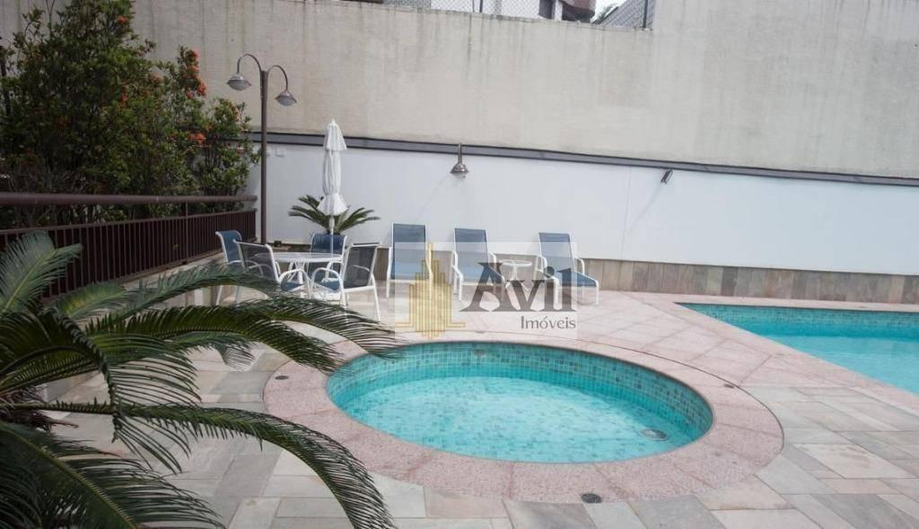 apartamento com 3 dormitórios à venda, 168 m² por r$ 1.250.000 - jardim anália franco - são paulo/sp - ap2229