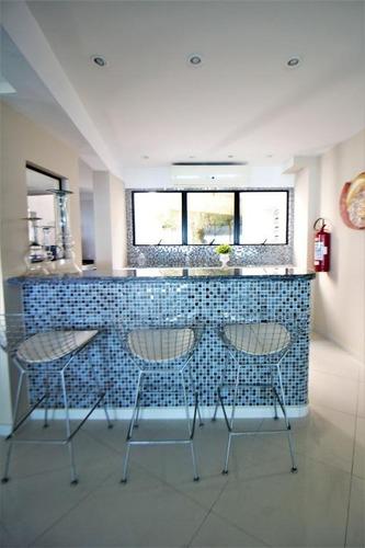 apartamento com 3 dormitórios à venda, 186 m² por r$ 1.500.000 - praia das pitangueiras - guarujá/sp - ap4444