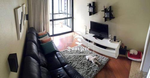 apartamento com 3 dormitórios à venda, 190 m² por r$ 890.000,00 - jardim - santo andré/sp - ap8073