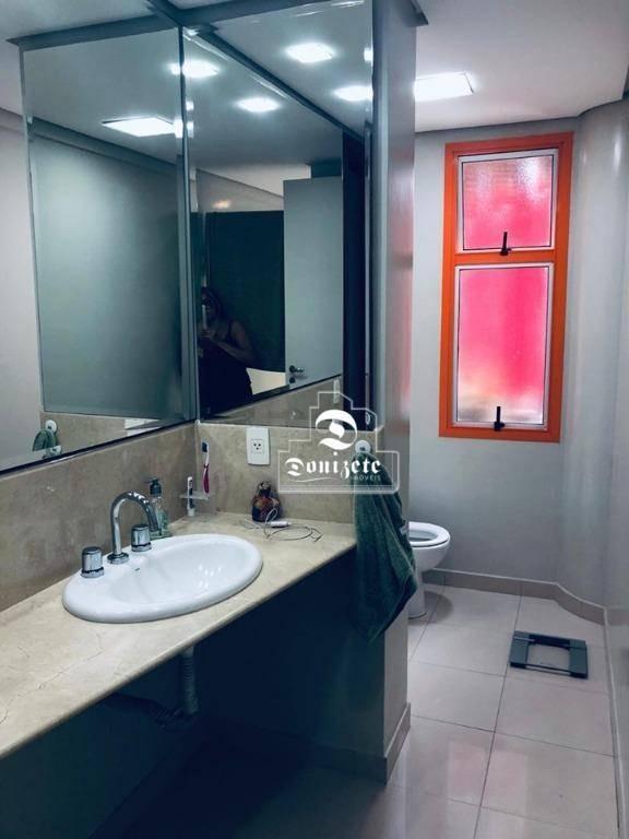 apartamento com 3 dormitórios à venda, 205 m² por r$ 1.500.000,00 - jardim - santo andré/sp - ap11476