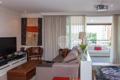 apartamento com 3 dormitórios à venda, 218 m² por r$ 2.400.000 - brooklin - são paulo/sp - ap3470