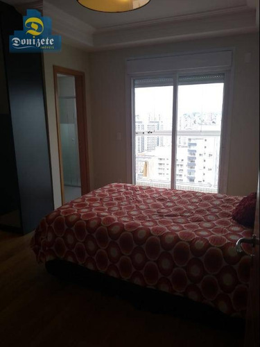apartamento com 3 dormitórios à venda, 227 m² por r$ 2.500.000 - bairro jardim - santo andré/sp - ap7395