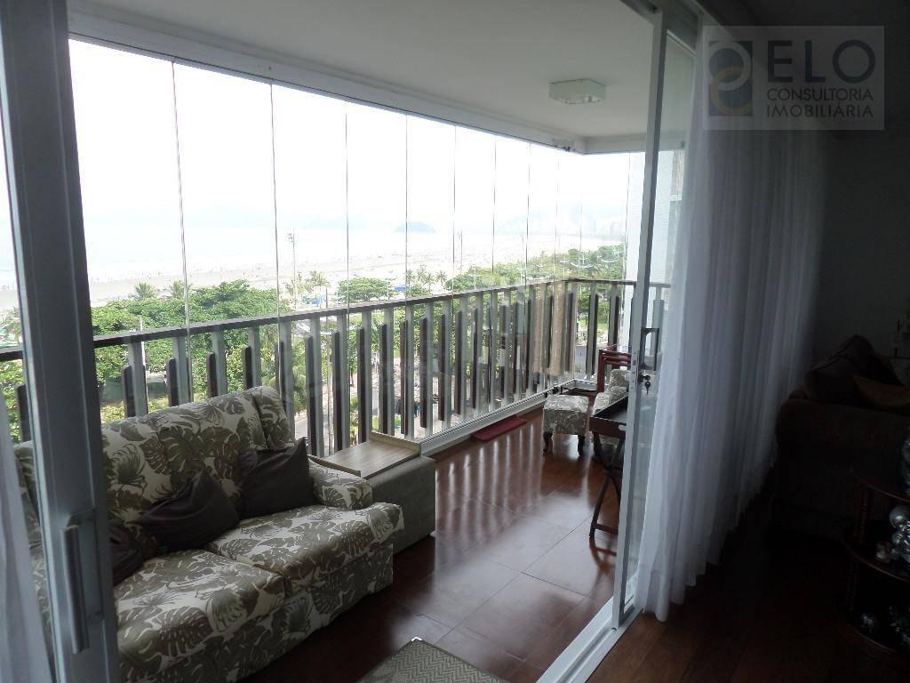 apartamento com 3 dormitórios à venda, 240 m² por r$ 2.150.000,00 - boqueirão - santos/sp - ap1522