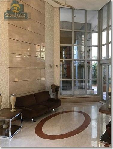 apartamento com 3 dormitórios à venda, 330 m² por r$ 1.899.000,00 - jardim - santo andré/sp - ap9078