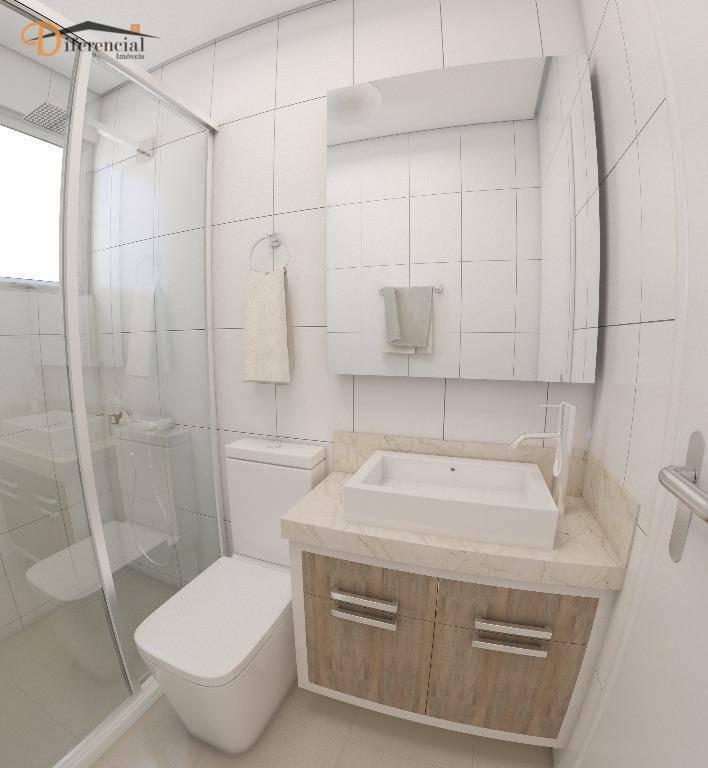 apartamento com 3 dormitórios à venda, 52 m² por r$ 153.000,00 - ouro verde - campo largo/pr - ap0746