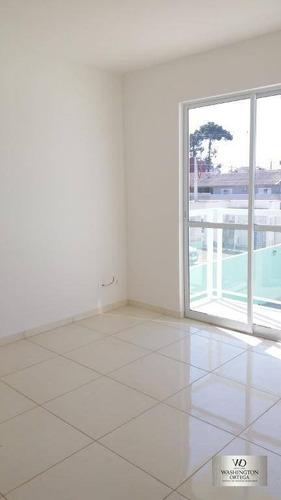 apartamento com 3 dormitórios à venda, 52 m² por r$ 160.000,00 - rio pequeno - são josé dos pinhais/pr - ap0206