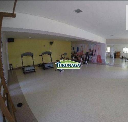 apartamento com 3 dormitórios à venda, 54 m² por r$ 245.000 - ponte grande - guarulhos/sp - ap2060