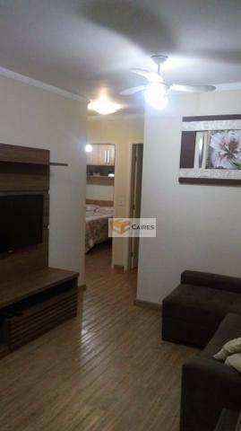 apartamento com 3 dormitórios à venda, 58 m² por r$ 275.000 - vila industrial - campinas/sp - ap7186