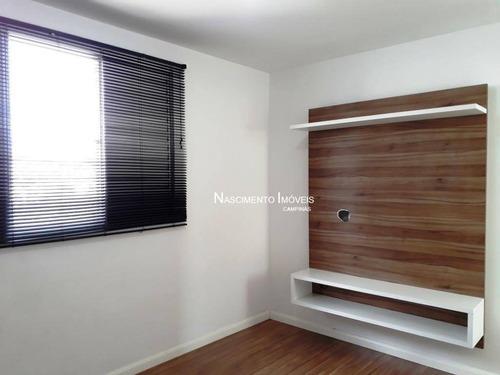 apartamento com 3 dormitórios à venda, 58 m² por r$ 328.000 - jardim nova europa - campinas/sp - ap0522