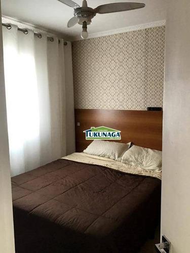 apartamento com 3 dormitórios à venda, 58 m² por r$ 330.000 - jardim santa clara - guarulhos/sp - ap2136