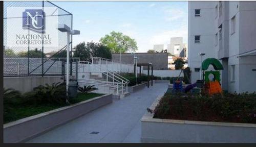apartamento com 3 dormitórios à venda, 60 m² por r$ 360.000 - vila pires - santo andré/sp - ap8598