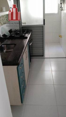 apartamento com 3 dormitórios à venda, 63 m² por r$ 380.000 - tatuapé - são paulo/sp - ap0003