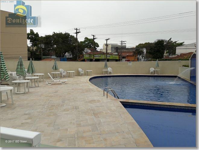 apartamento com 3 dormitórios à venda, 63 m² por r$ 394.000,00 - campestre - santo andré/sp - ap2569
