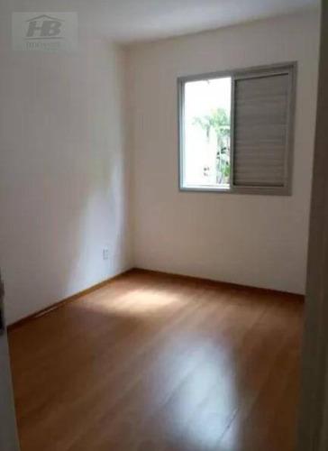 apartamento com 3 dormitórios à venda, 65 m² por r$ 308.000 - jaguaré - são paulo/sp - ap3394