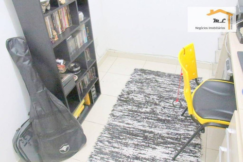 apartamento com 3 dormitórios à venda, 67 m² por r$ 400.000 - barcelona - são caetano do sul/sp - ap0827