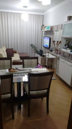 apartamento com 3 dormitórios à venda, 68 m² por r$ 320.000,00 - jardim satélite - são josé dos campos/sp - ap11039