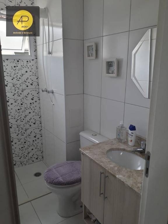apartamento com 3 dormitórios à venda, 70 m² - cézar de souza - mogi das cruzes/sp - ap0278