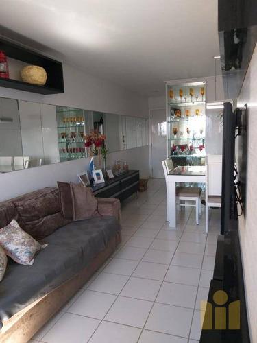 apartamento com 3 dormitórios à venda, 70 m² por r$ 320.000 - farol - maceió/al - ap0456