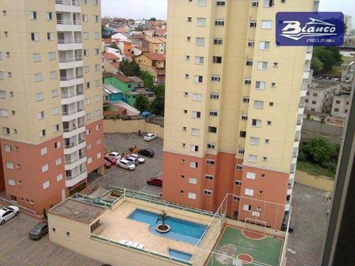 apartamento com 3 dormitórios à venda, 70 m² por r$ 330.000 - vila rio de janeiro - guarulhos/sp - ap3391