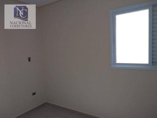 apartamento com 3 dormitórios à venda, 70 m² por r$ 340.000 - vila pires - santo andré/sp - ap8752