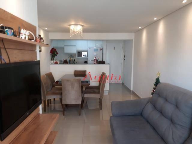 apartamento com 3 dormitórios à venda, 70 m² por r$ 370.000 - vila valparaíso - santo andré/sp - ap2055