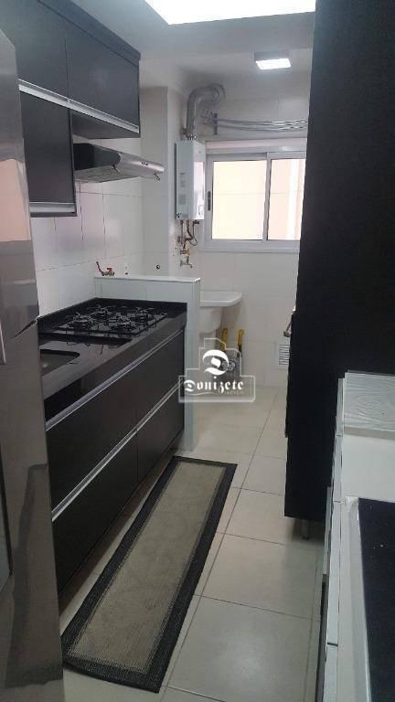 apartamento com 3 dormitórios à venda, 70 m² por r$ 399.000,10 - vila valparaíso - santo andré/sp - ap5578