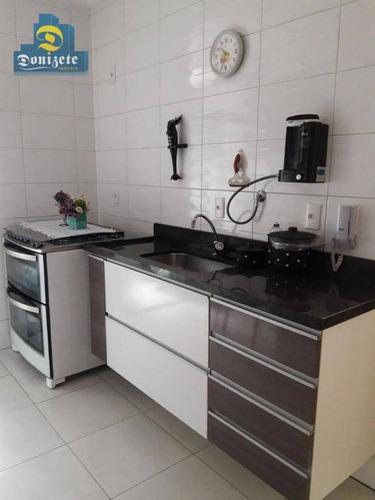 apartamento com 3 dormitórios à venda, 70 m² por r$ 430.000 - vila pires - santo andré/sp - ap9757
