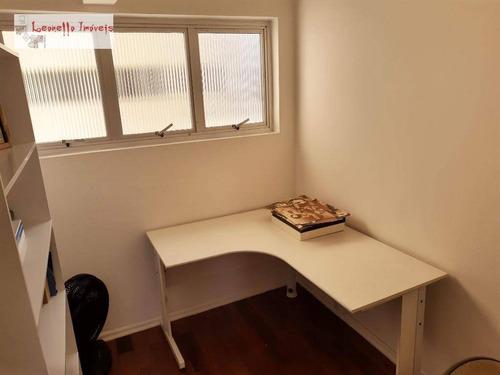 apartamento com 3 dormitórios à venda, 73 m², aceita permuta - centro - santo andré/sp - ap0436