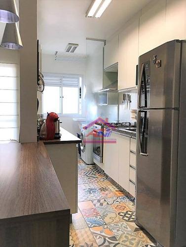 apartamento com 3 dormitórios à venda, 73 m² - jardim santa izabel - hortolândia/sp - ap0062