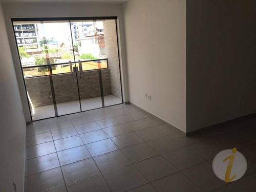 apartamento com 3 dormitórios à venda, 74 m² por r$ 239.000 - bessa - joão pessoa/pb - ap5444