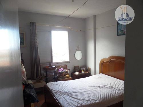 apartamento com 3 dormitórios à venda, 75 m² por r$ 200.000 - solemar - praia grande/sp - ap9371