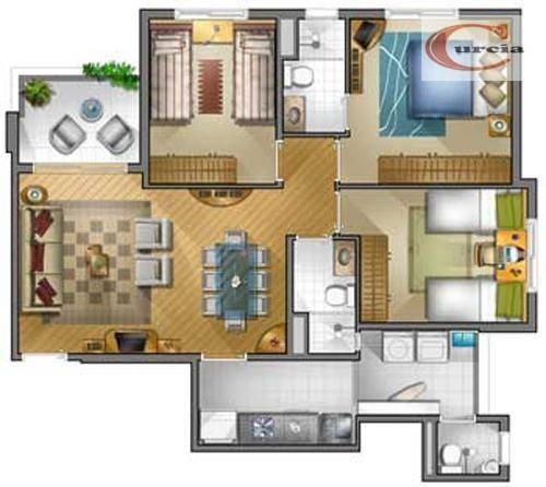 apartamento com 3 dormitórios à venda, 75 m² por r$ 910.000 - jardim paulista - são paulo/sp - ap5757