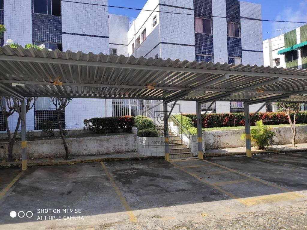 apartamento com 3 dormitórios à venda, 78 m² por r$ 210.000 - candelária - natal/rnv0818 - ap0429