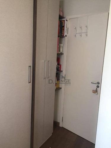 apartamento com 3 dormitórios à venda, 79 m² por r$ 459.000 - parque prado - campinas/sp - ap18013