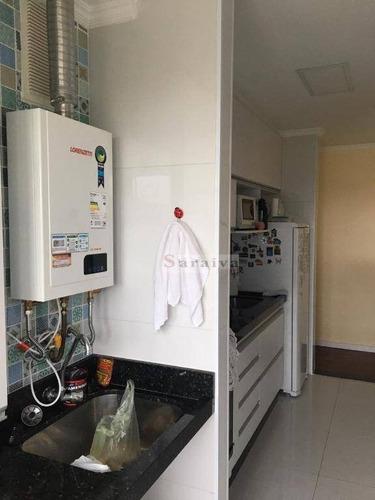 apartamento com 3 dormitórios à venda, 79 m² por r$ 585.000 - jardim são caetano - são caetano do sul/sp - ap1377
