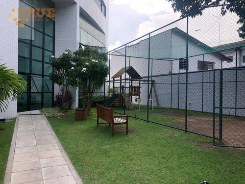 apartamento com 3 dormitórios à venda, 80 m² por r$ 500.000 - rosarinho - recife/pe - ap3380