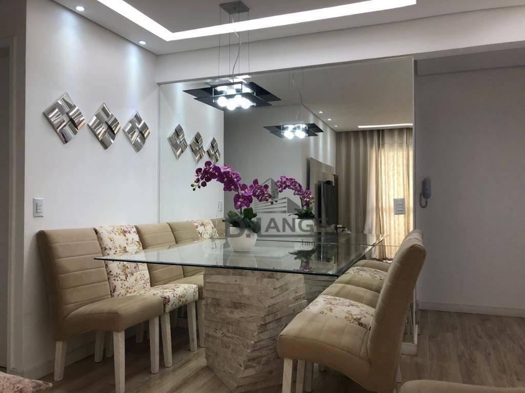 apartamento com 3 dormitórios à venda, 81 m² por r$ 360.000,00 - vila industrial - campinas/sp - ap18138