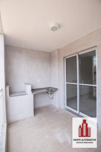 apartamento com 3 dormitórios à venda, 81 m² por r$ 452.000 - rudge ramos - são bernardo do campo/sp - ap0556