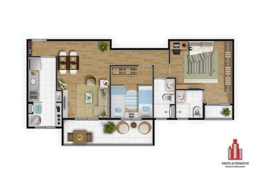 apartamento com 3 dormitórios à venda, 81 m² por r$ 478.000,00 - rudge ramos - são bernardo do campo/sp - ap0556