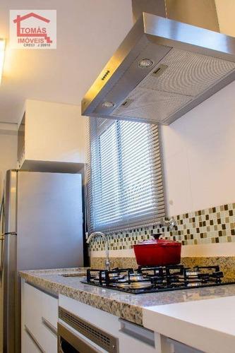 apartamento com 3 dormitórios à venda, 82 m² por r$ 547.800 - vila pereira barreto - são paulo/sp - ap0880