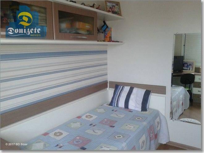 apartamento com 3 dormitórios à venda, 82 m² por r$ 550.000,00 - vila assunção - santo andré/sp - ap5663