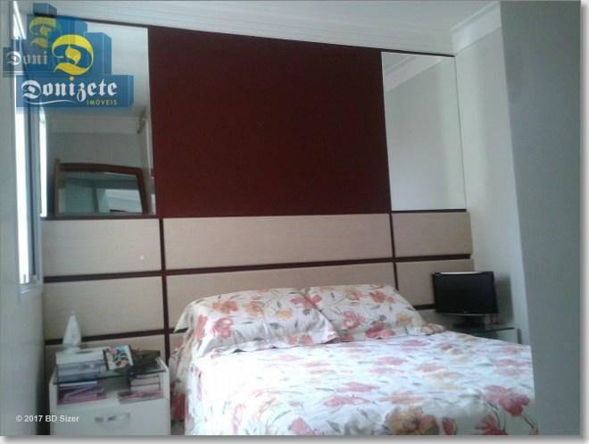apartamento com 3 dormitórios à venda, 82 m² por r$ 550.000,10 - vila assunção - santo andré/sp - ap5663