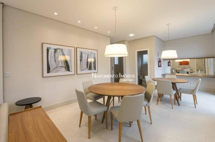 apartamento com 3 dormitórios à venda, 82 m² por r$ 660.000 - mansões santo antônio - campinas/sp - ap0602