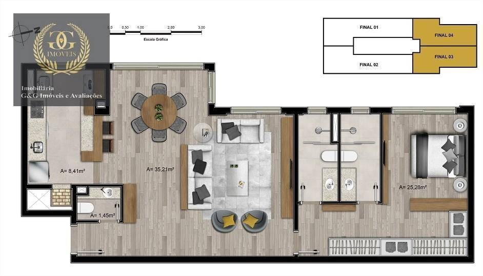 apartamento com 3 dormitórios à venda, 82 m² por r$ 886.208,44 - menino deus - porto alegre/rs - ap0048