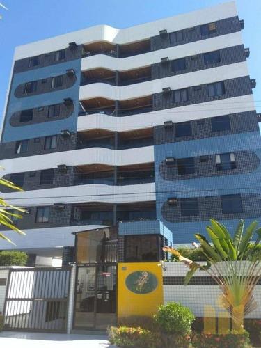 apartamento com 3 dormitórios à venda, 84 m² por r$ 290.000 - jatiúca - maceió/al - ap0465