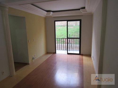 apartamento com 3 dormitórios à venda, 84 m² por r$ 300.000 - jardim do lago continuação - campinas/sp - ap5883