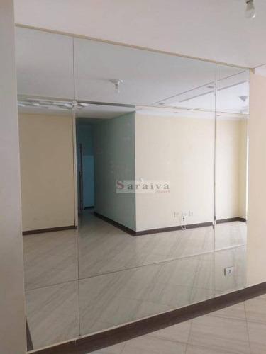 apartamento com 3 dormitórios à venda, 85 m² por r$ 560.000 - barcelona - são caetano do sul/sp - ap1348